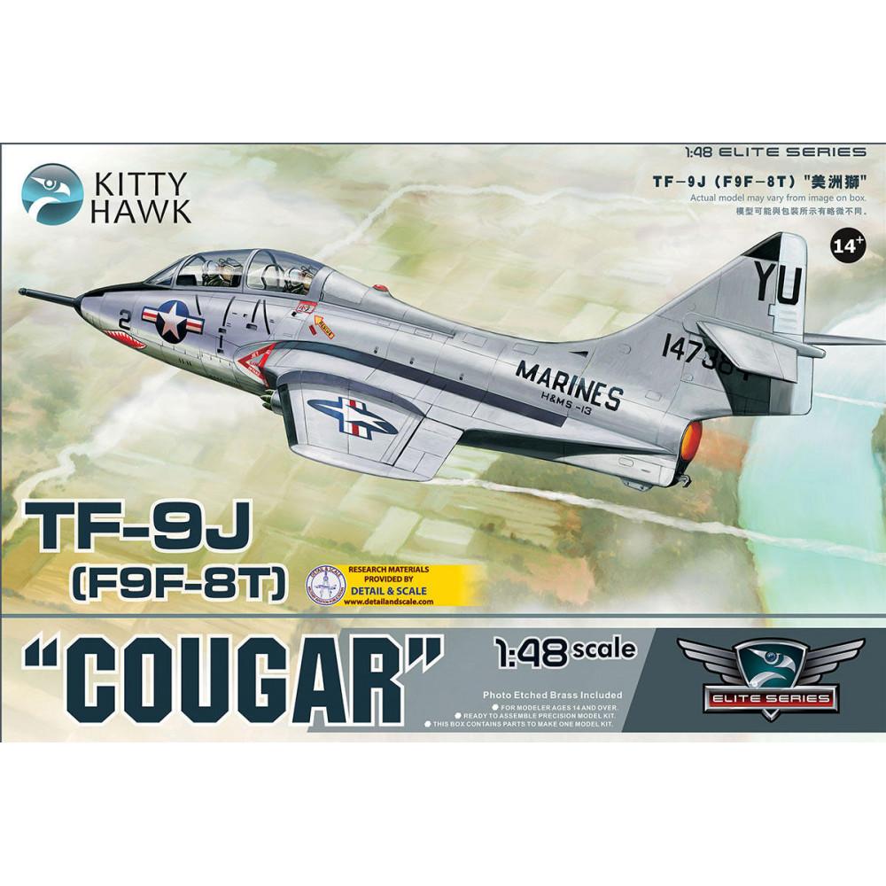 Самолёт  TF-9J Cougar  1/48 Kitty Hawk 80129