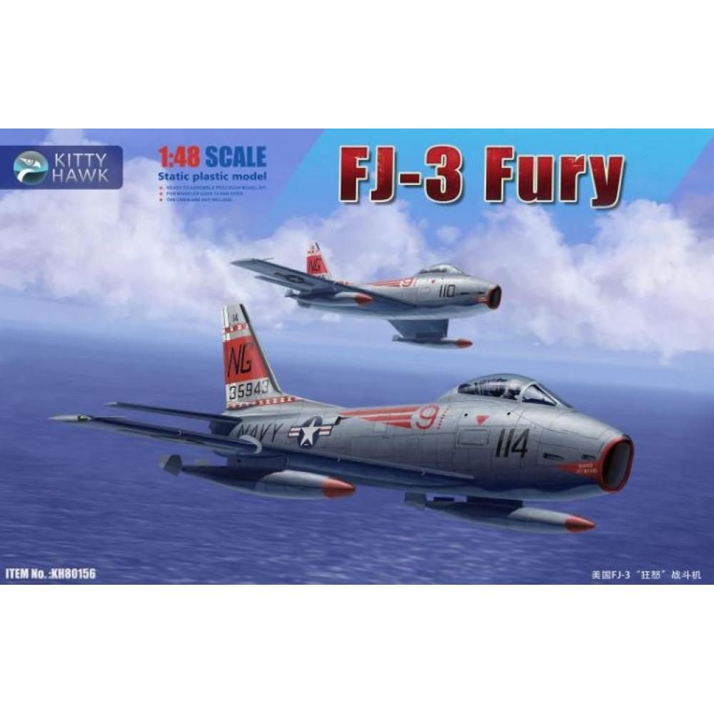Американский истребитель FJ-3 Fury  1/48 Kitty Hawk 80156