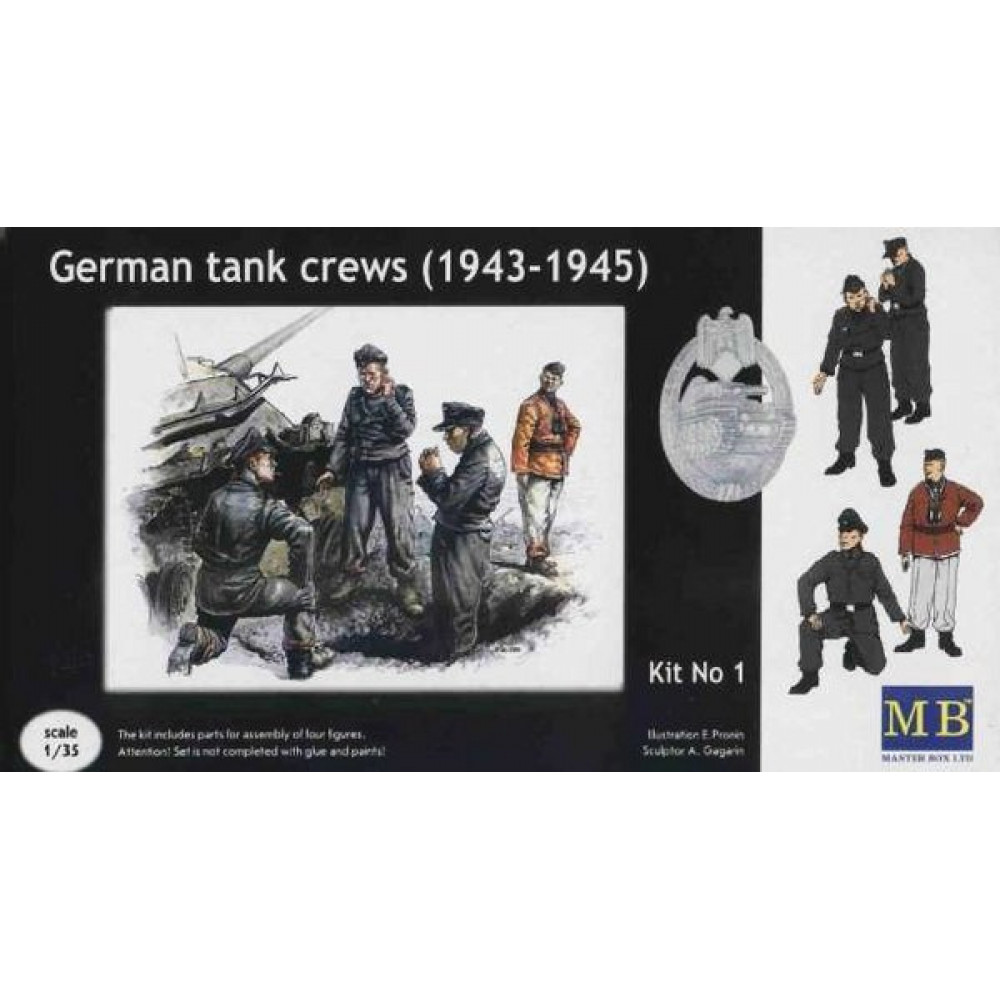 German tank crews, 1943-1945 1/35 MasterBox 3507