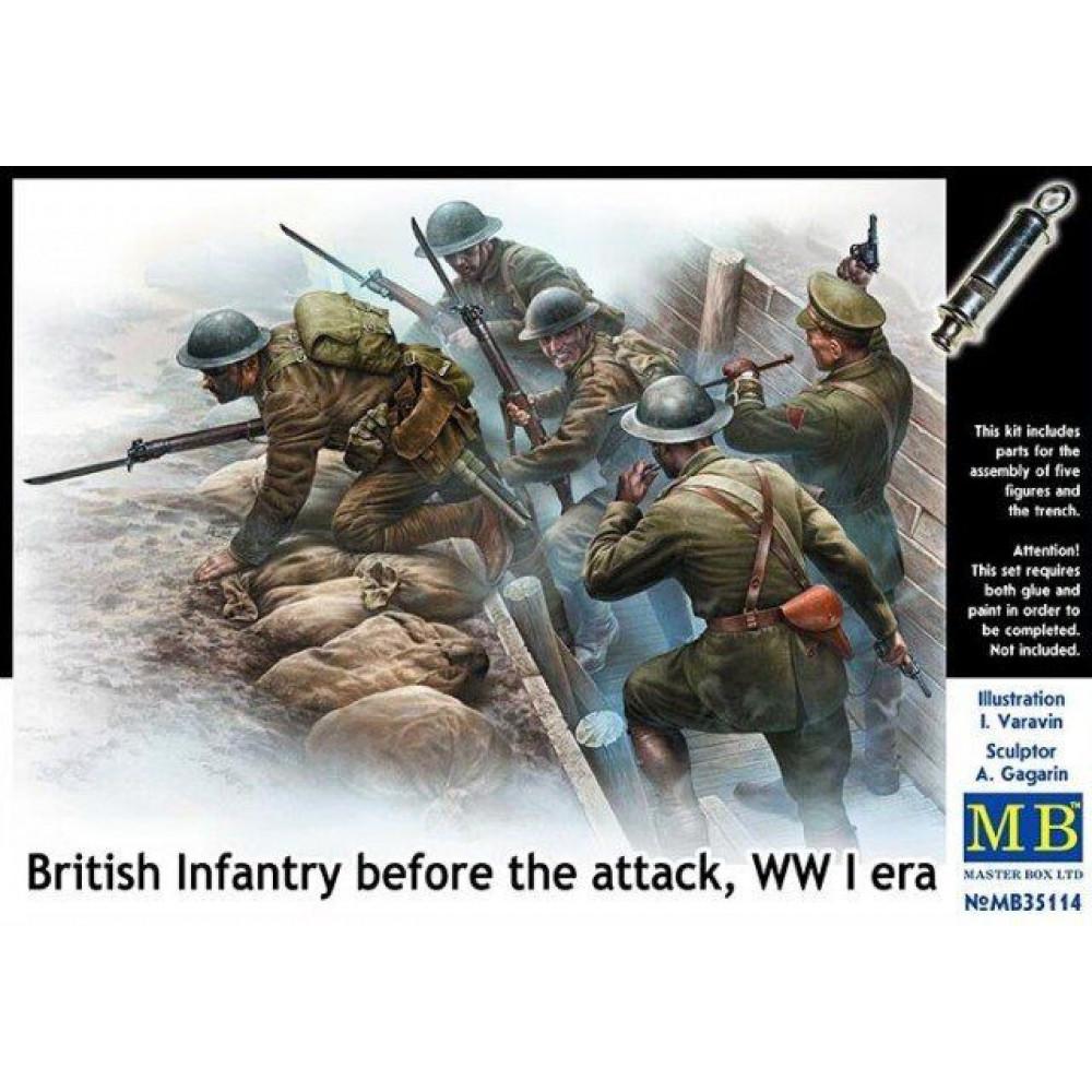 Британская пехота перед атакой, Первая мировая война 1/35 MasterBox 35114