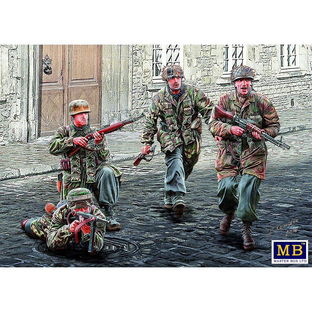 Немецкие парашютист,Вторая мировая война  1/35 MasterBox 35145