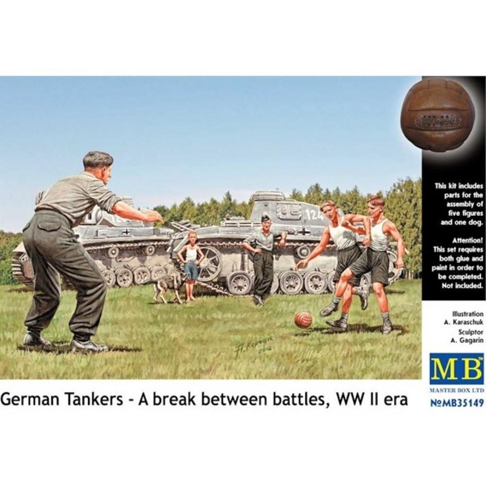 Германские танкисты играют в футбол, ВМВ 1/35 MasterBox 35149
