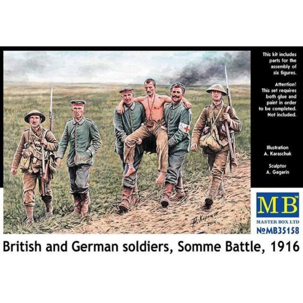 Британские и германские солдаты, Битва на Сомме, 1916 год, Первая Мировая война 1/35 MasterBox 35158