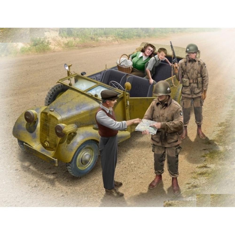 Американские десантники и гражданские, 1945 г. 1/35 MasterBox 35161