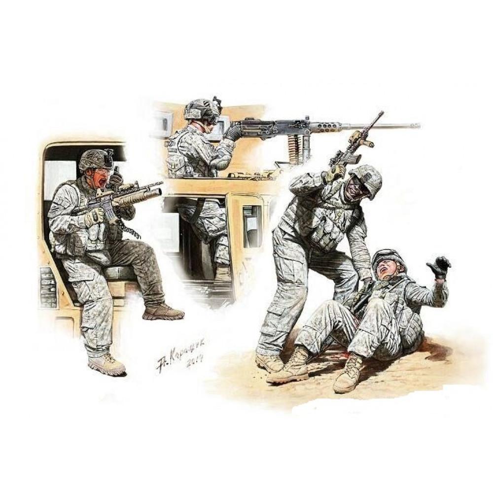"""""""Man Down!"""" американские современные солдаты  1/35 MasterBox 35170"""