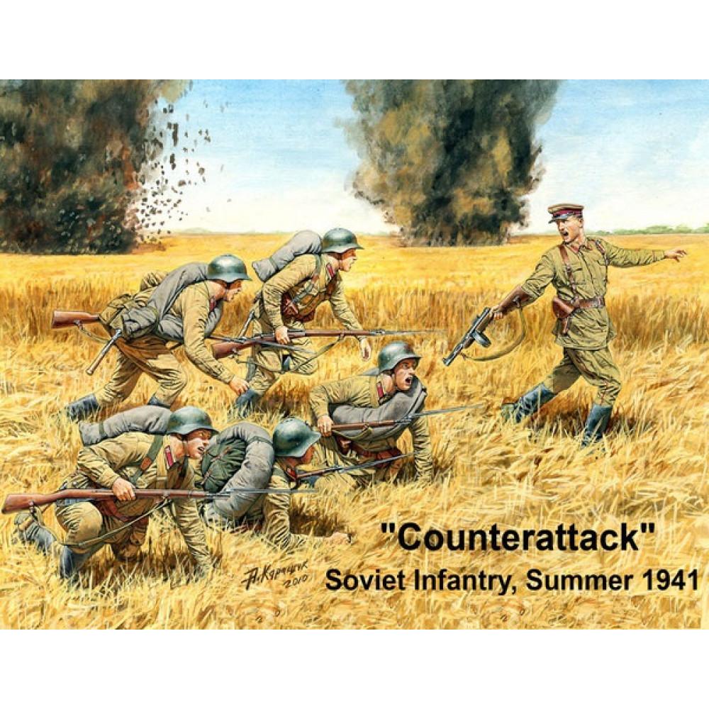"""""""Контратака"""", советская пехота, лето 1941 года  1/35 MasterBox 3563"""