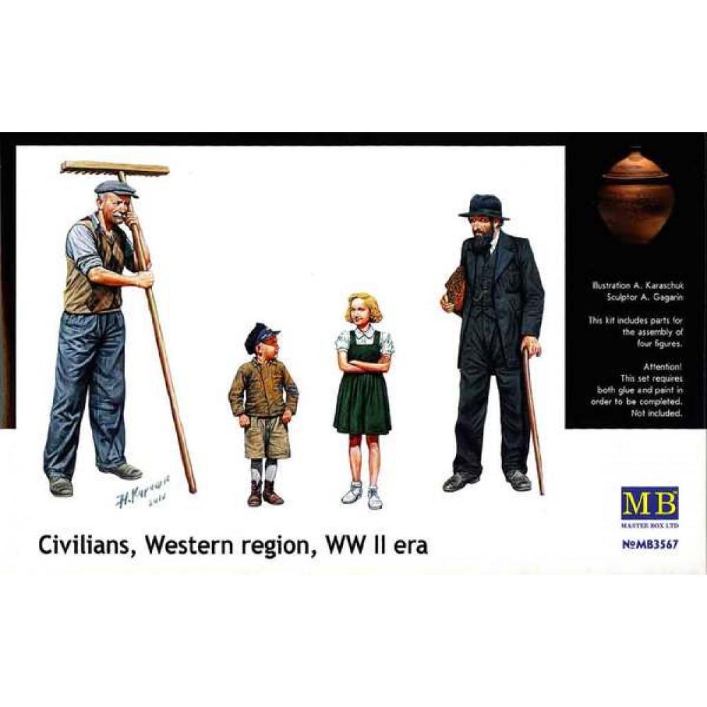 'Мирные жители Западной Европы' 1/35 MasterBox 3567