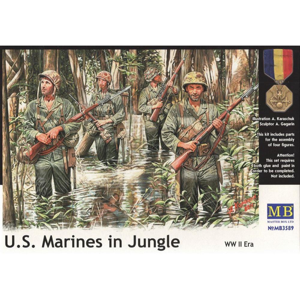 'Американские морпехи в джунглях' 1/35 MasterBox 3589