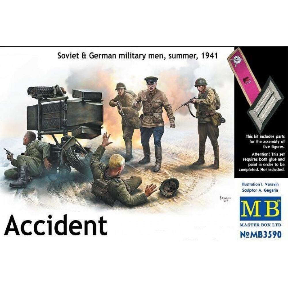 """""""Авария"""", советские и германские солдаты, лето 1941 год 1/35 MasterBox 3590"""