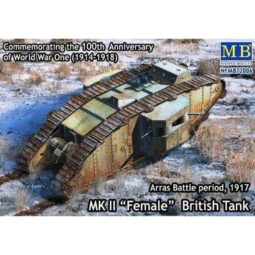 MK II Female British Tank, Arras Battle period, 1917   1/72 MasterBox 72006