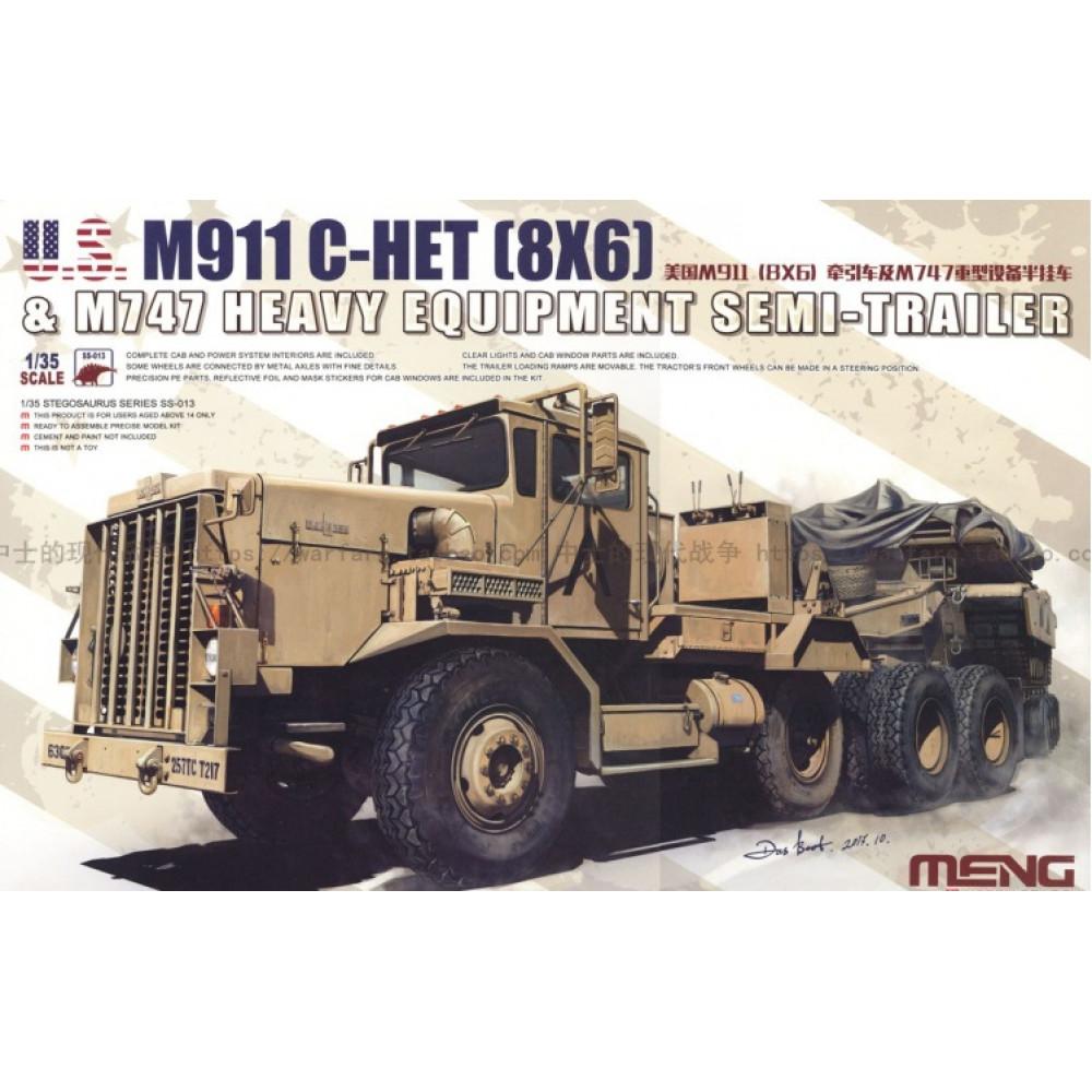 M911 C-HET (8X6) & M747 Heavy Equipment Semi-Trailer  1/35 Meng model ss-013