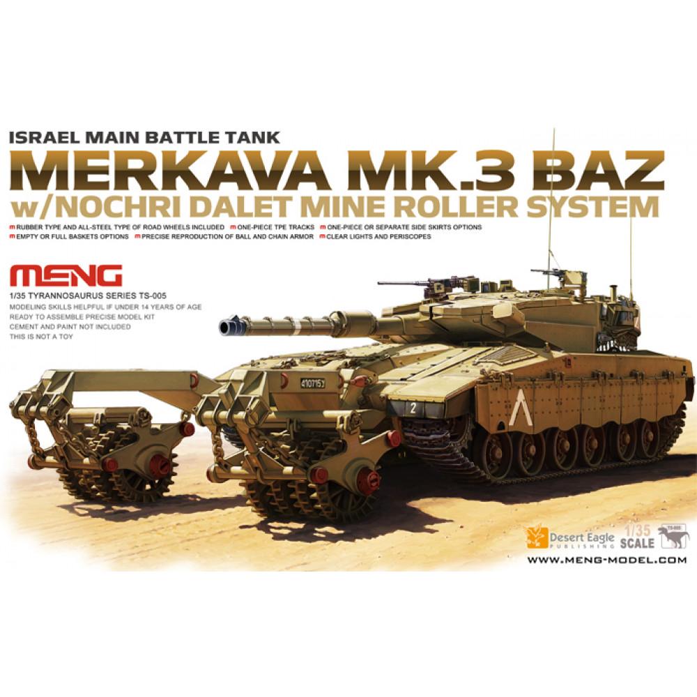 Israel main battle tank Merkava mk.3 baz W/Nochri dalet mine roller system 1/35 Meng model ts-005