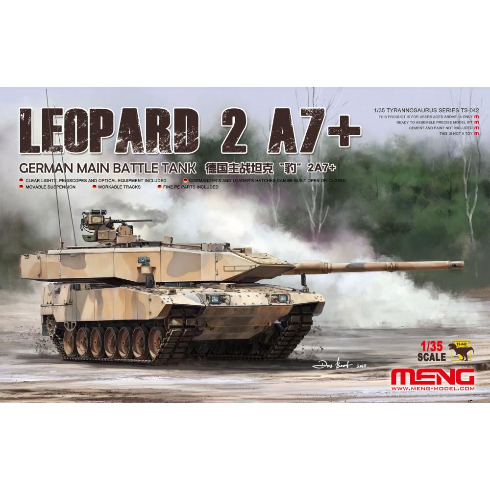 German Main Battle Tank Leopard 2A7+  1/35 Meng Model  ts-042