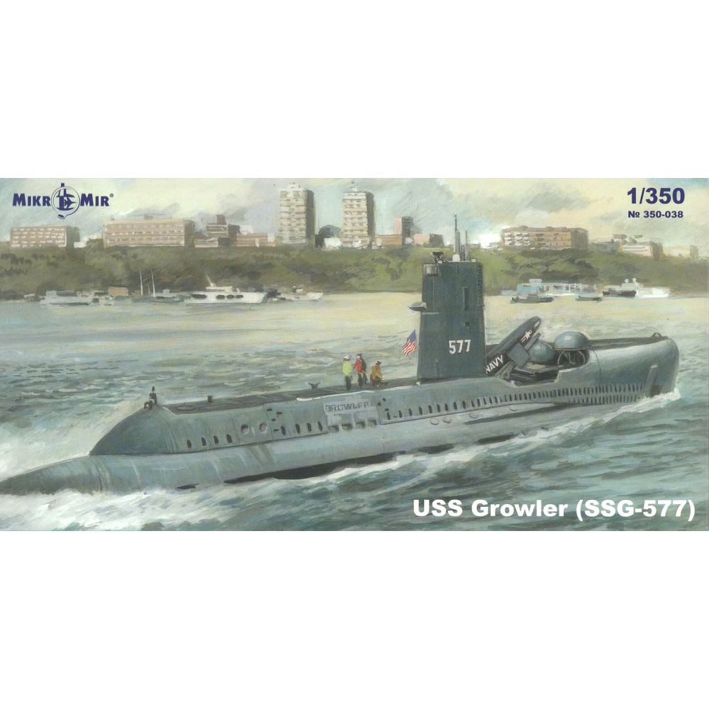 Submarine USS Growler (SSG-577) 1/350 Mikro-mir 350038