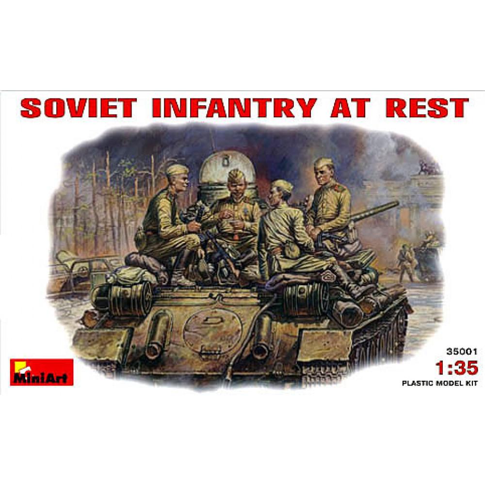 Soviet Infantry at Rest.WW II  1/35 MiniArt 35001