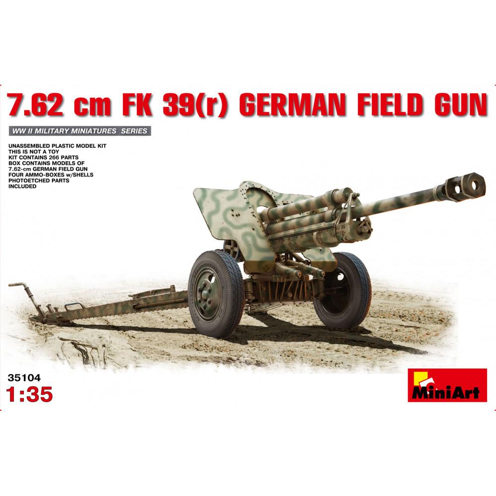 7.62cm FK 39(r) German Field Gun 1/35 MiniArt 35104