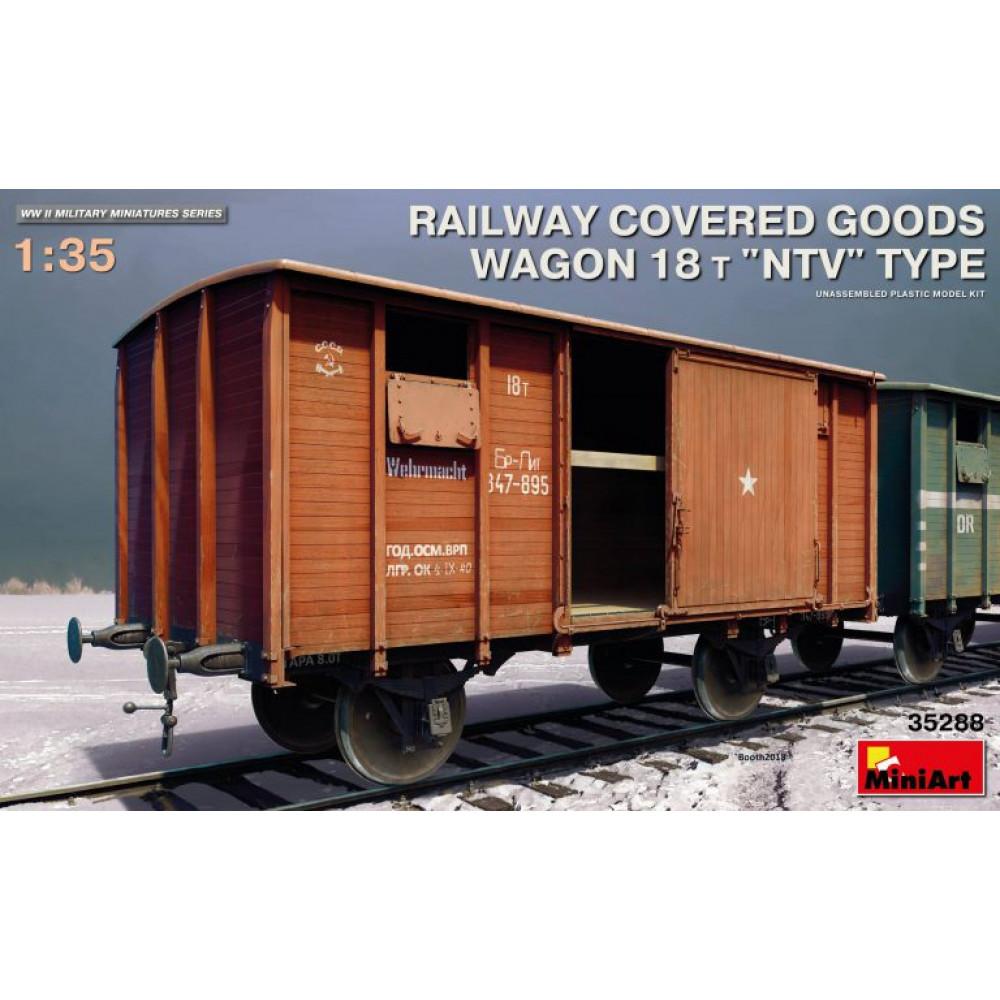 Railway Covered-Goods Wagon 18t ''NTV'' Type 1/35 MiniArt 35288