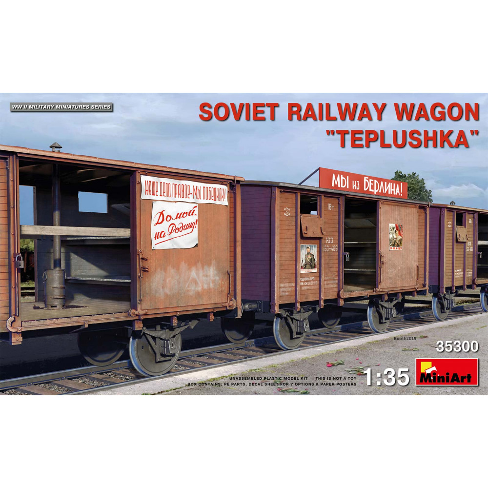 "SOVIET RAILWAY WAGON ""TEPLUSHKA"" 1/35 MiniArt 35300"