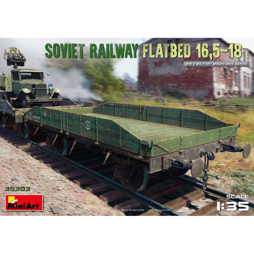 Soviet Railway Flatbed 16,5-18t 1/35 MiniArt 35303