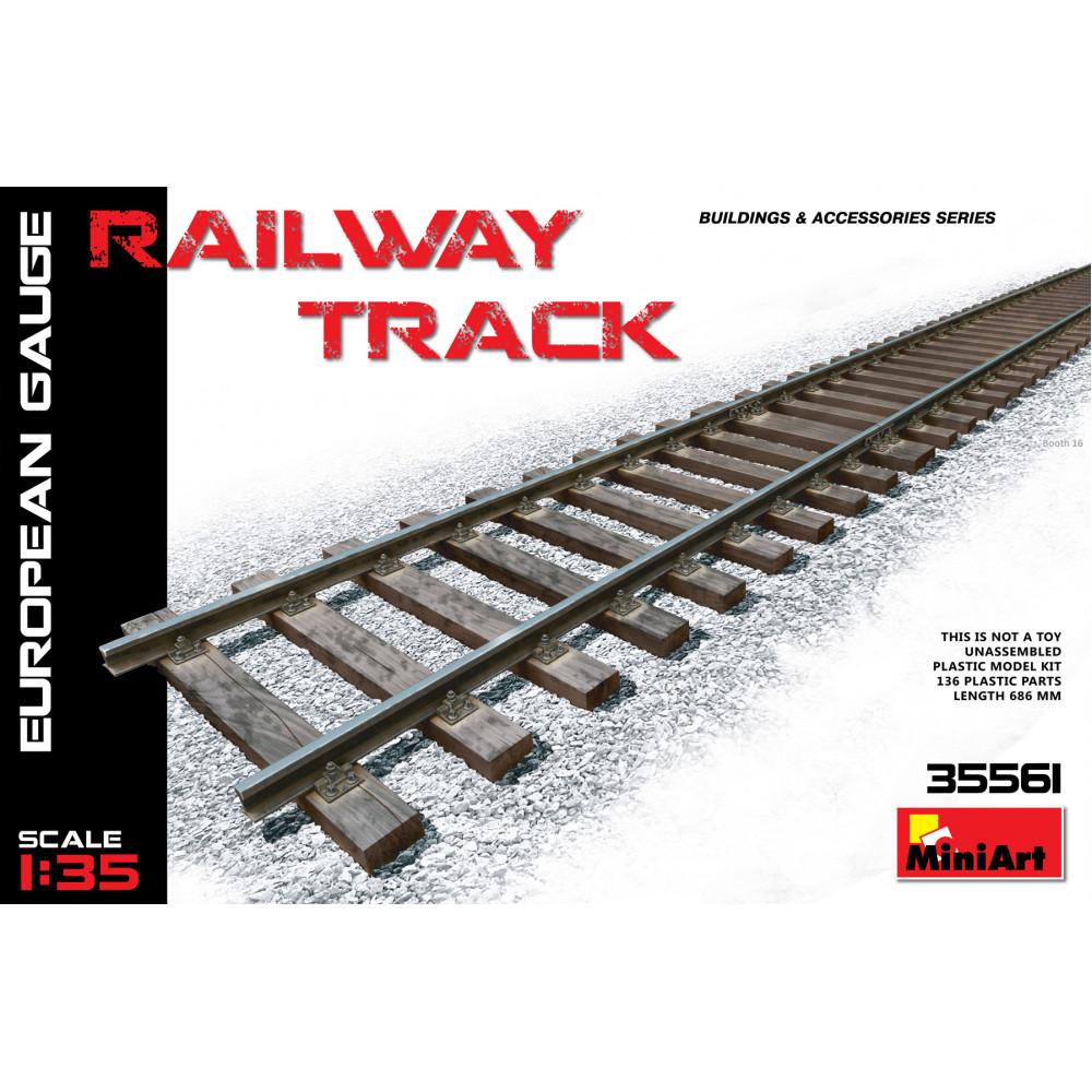 Railway Track ( European Gauge ) 1/35 MiniArt 35561