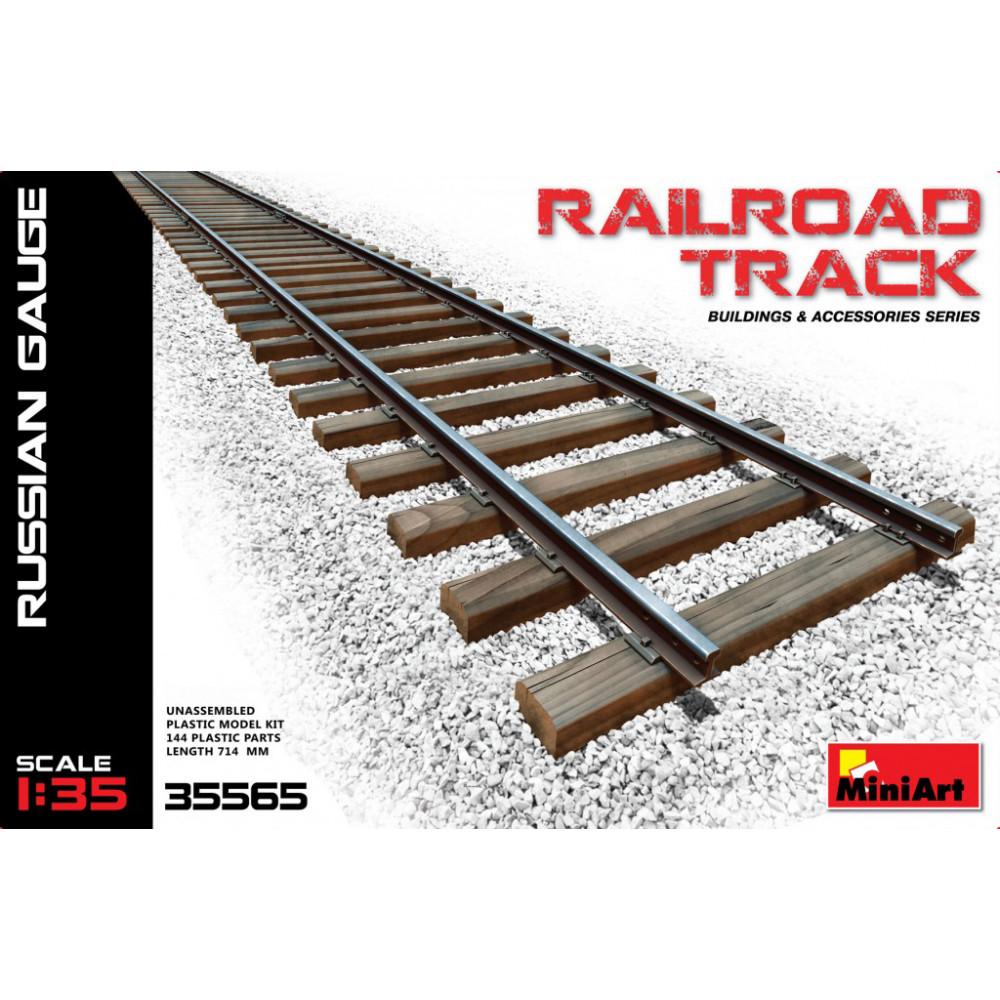 Railroad track. Russian gauge 1/35 MiniArt 35565