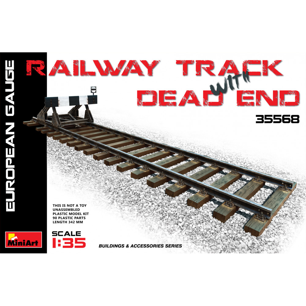 Railway Track & Dead end (Eur.gauge) 1/35 MiniArt 35568