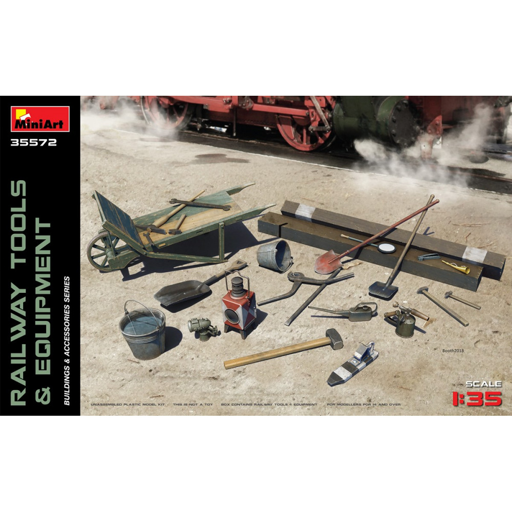 Railway Tools & Equipment 1/35 MiniArt 35572