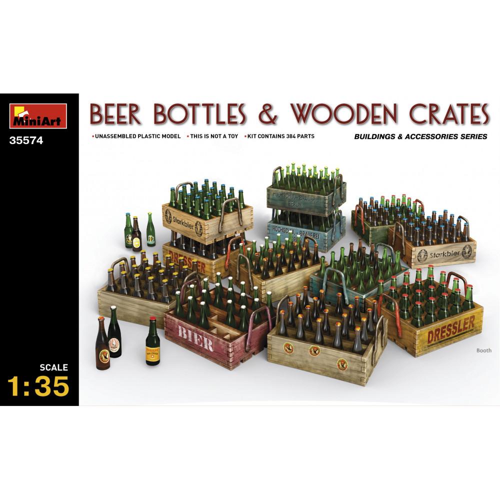 Beer bottles & Wooden Crates 1/35 MiniArt 35574