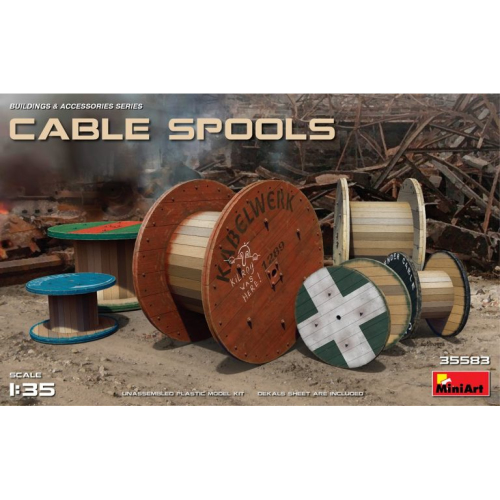 Cable Spools 1/35 MiniArt 35583
