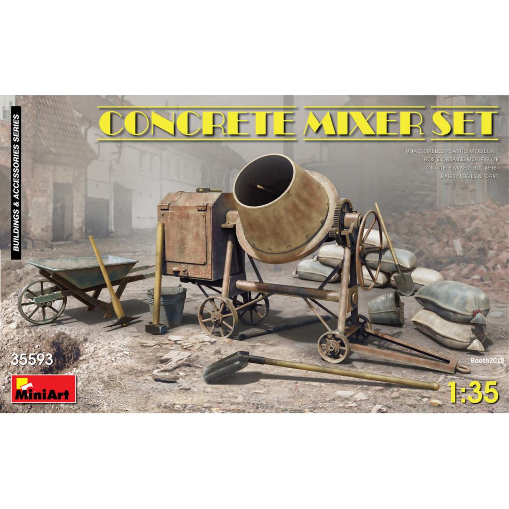 Concrete mixer set 1/35 MiniArt 35593