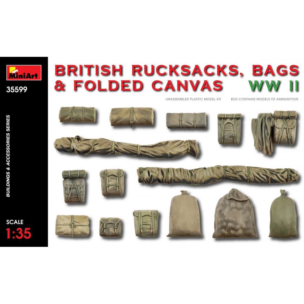British rucksacks, bags & folded canvas WW2 1/35 MiniArt 35599