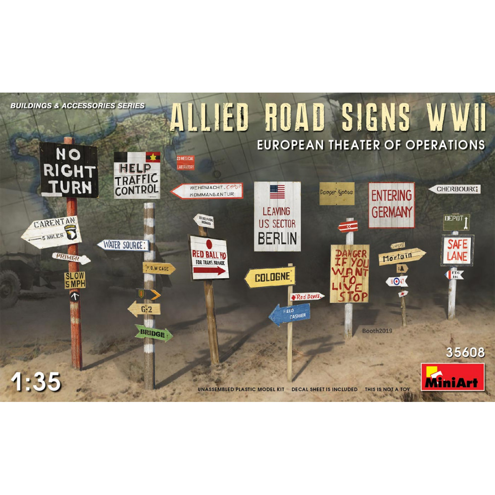 Allied Road Signs WWII 1/35 MiniArt 35608