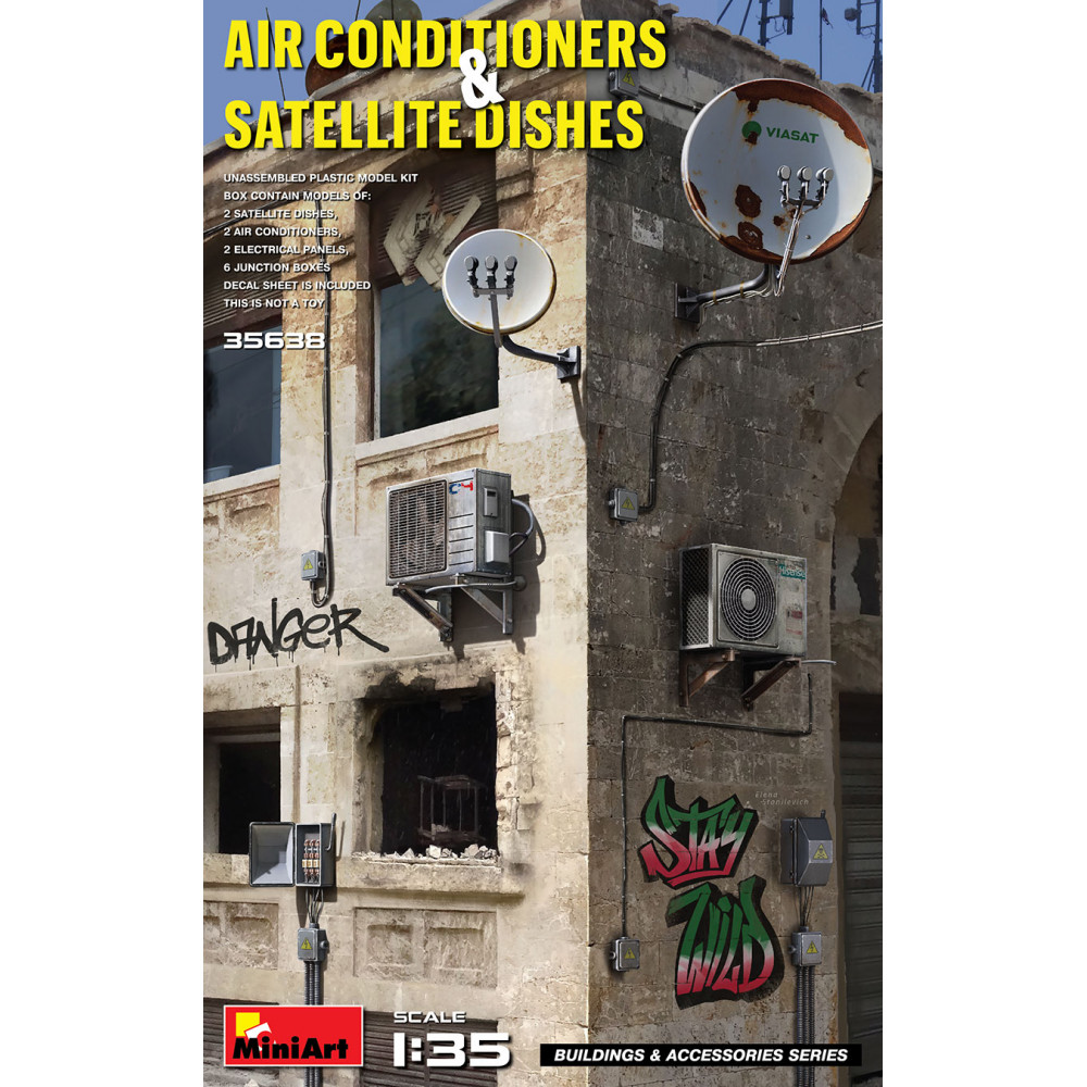 Air Conditioners & Satellite Dishes 1/35 MiniArt 35638