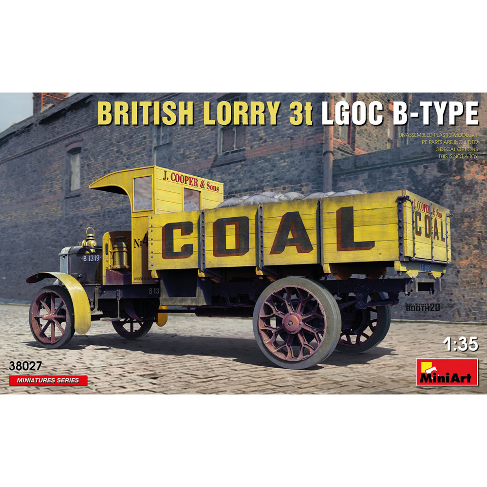 BRITISH LORRY 3T LGOC B-TYPE 1/35 MiniArt 38027