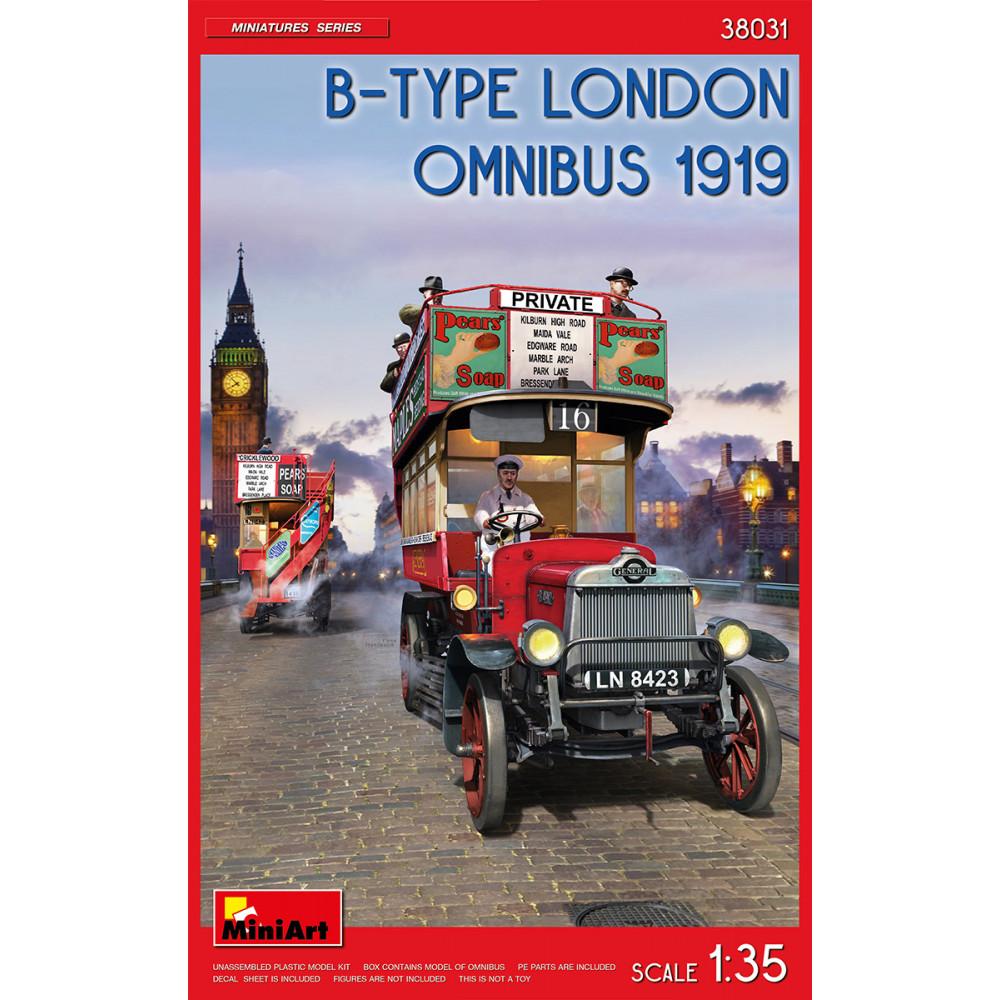 B-TYPE LONDON OMNIBUS 1919 1/35 MiniArt 38031