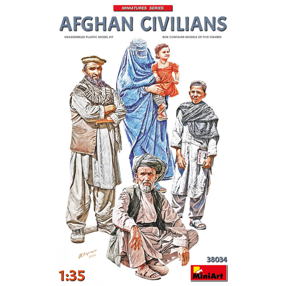 AFGHAN CIVILIANS 1/35 MiniArt 38034