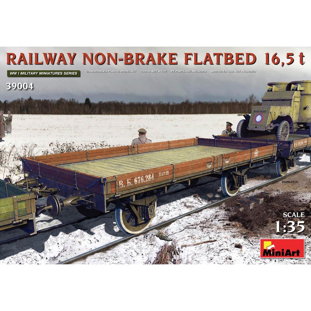 Railway Non-Brake Flatbed 16.5 t 1/35 MiniArt 39004