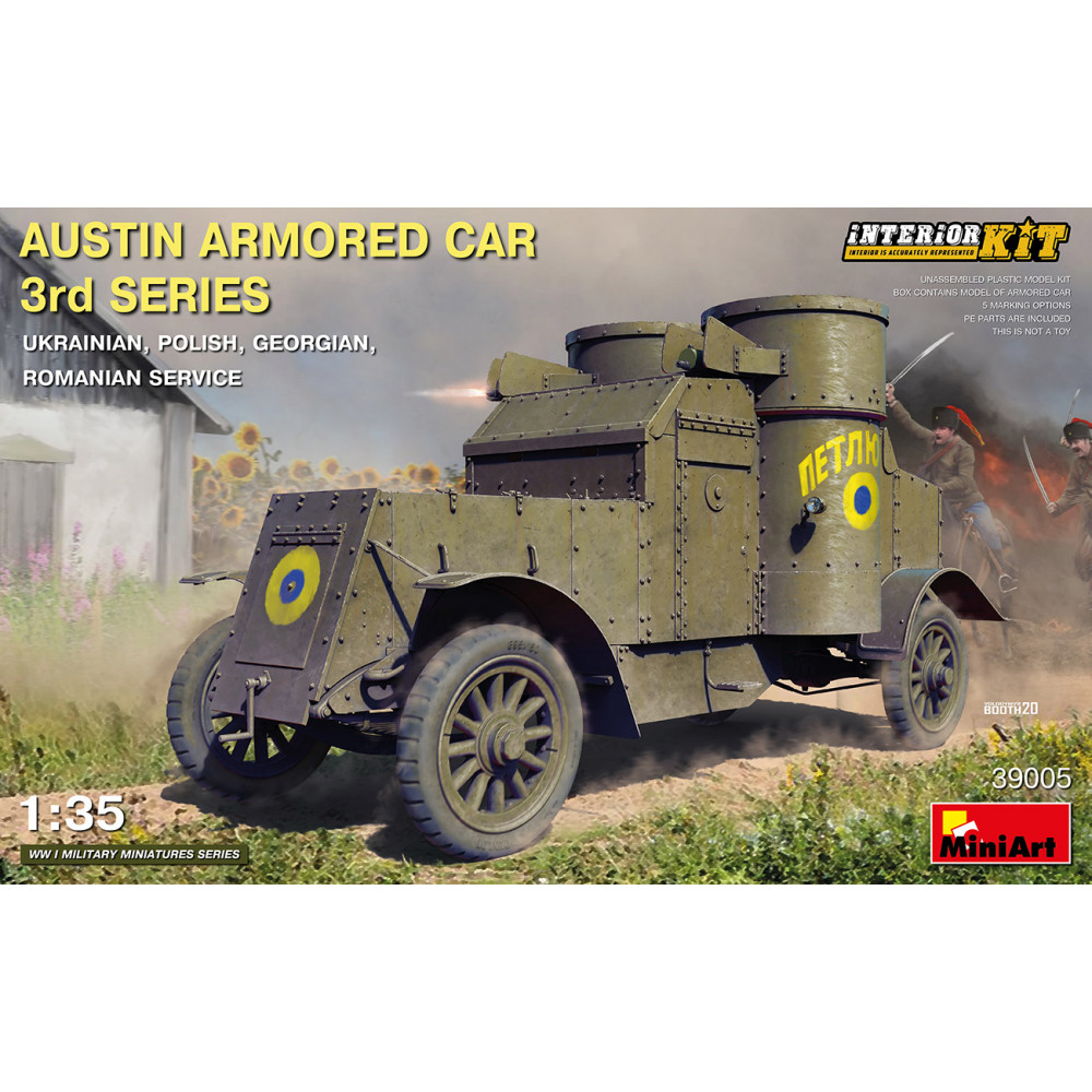 AUSTIN ARMORED CAR 3rd SERIES: UKRAINIAN, POLISH, GEORGIAN, ROMANIAN SERVICE. INTERIOR KIT 1/35 MiniArt 39005