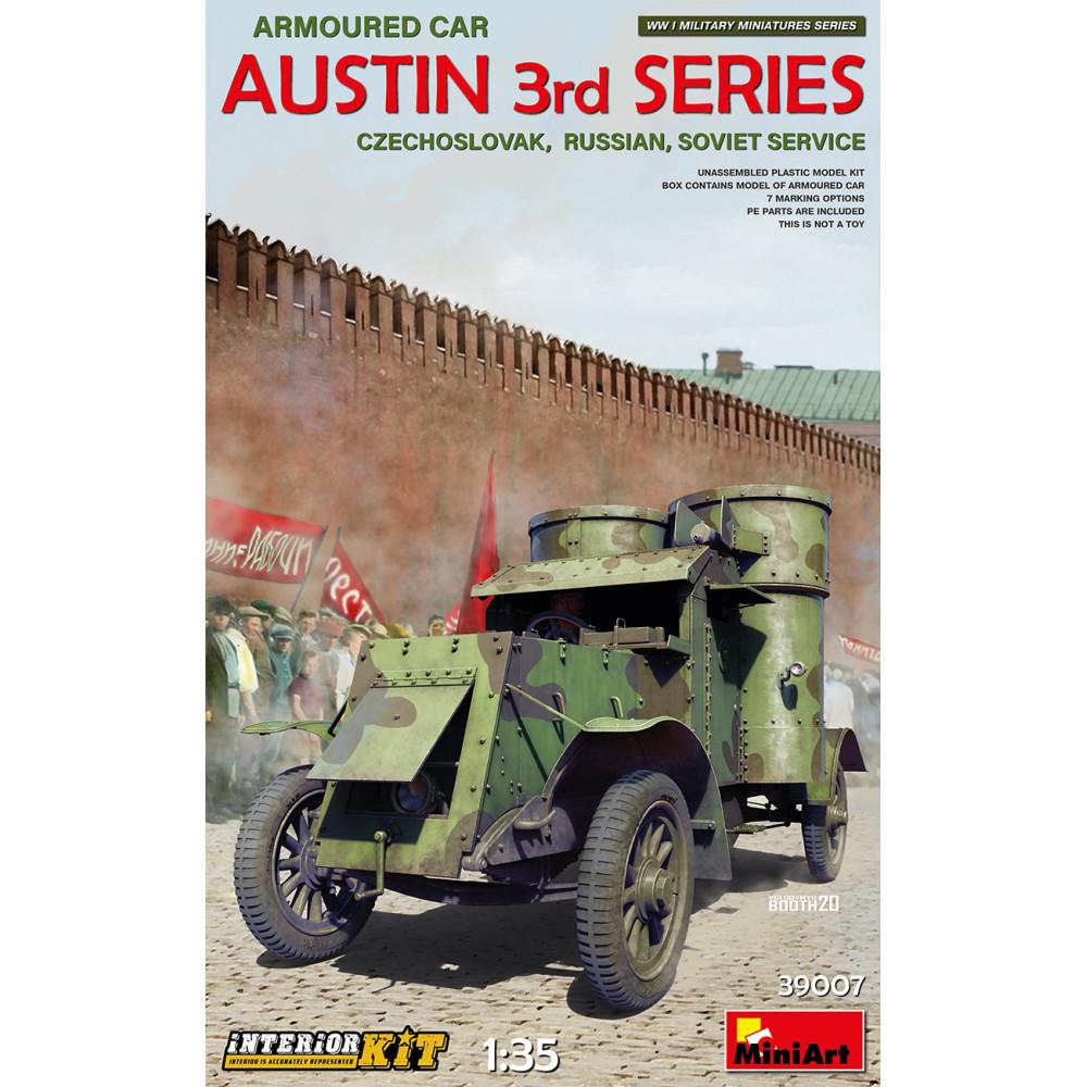 Austin armoured car 3rd series: czechoslovak, russian, soviet service. Interior kit 1/35 MiniArt 39007