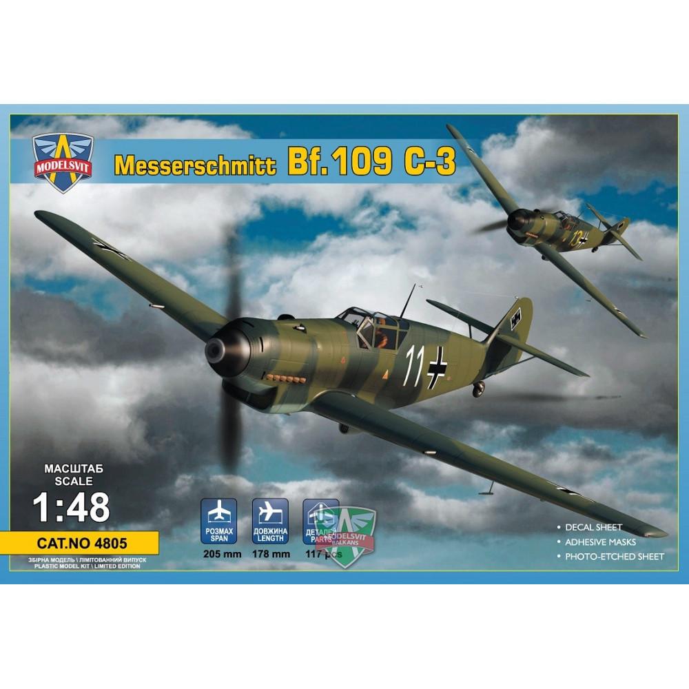 Messerschmitt Bf.109 C-3 1/48 ModelSvit 4805