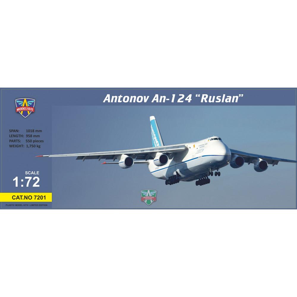 """Antonov An-124 """"Ruslan""""  1/72 Modelsvit  7201"""