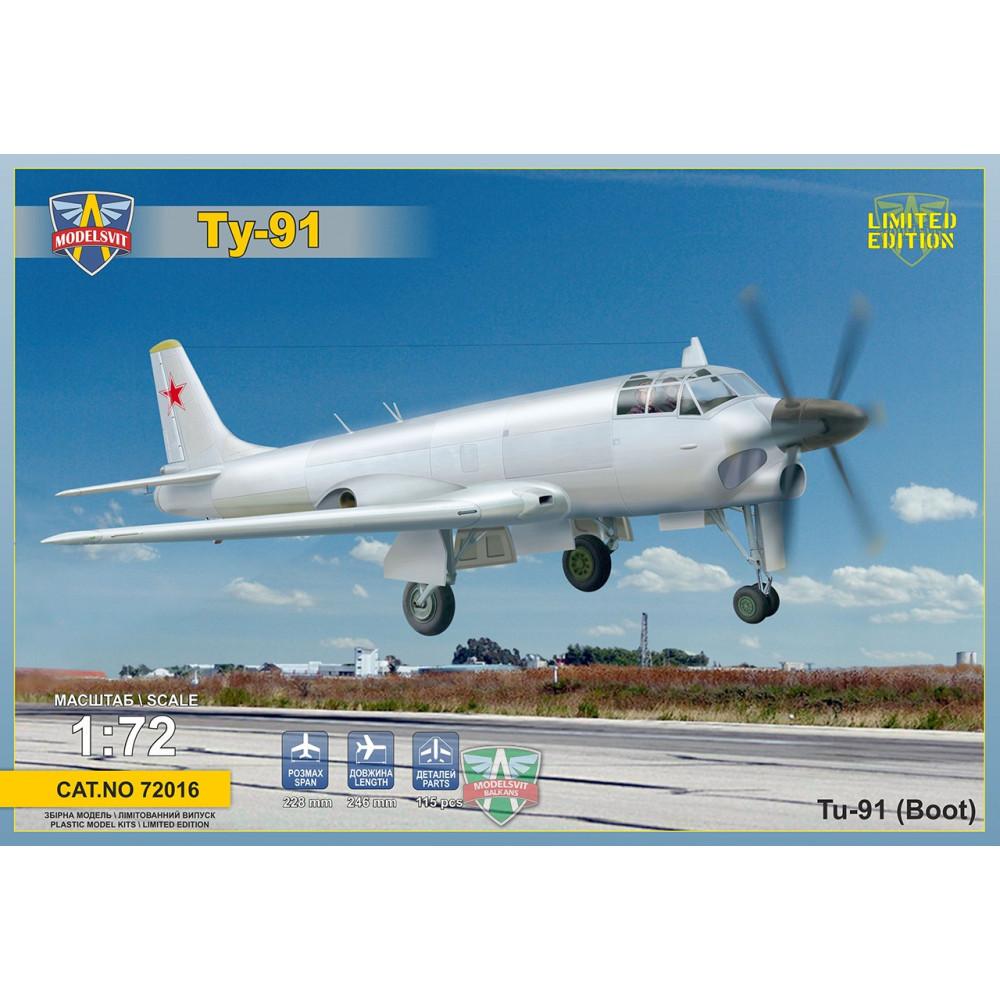 Tupolev Tu-91 Naval attack aircraft 1/72 Modelsvit  72016