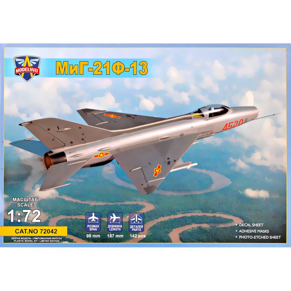 MiG-21F-13 supersonic jet fighter 1/72 Modelsvit  72042