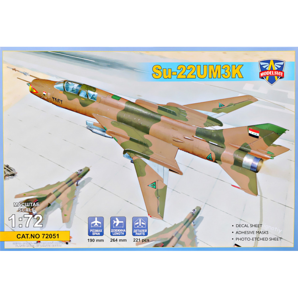 Su-22UM3K advanced two-seat trainer (Export vers.) 1/72 Modelsvit  72051
