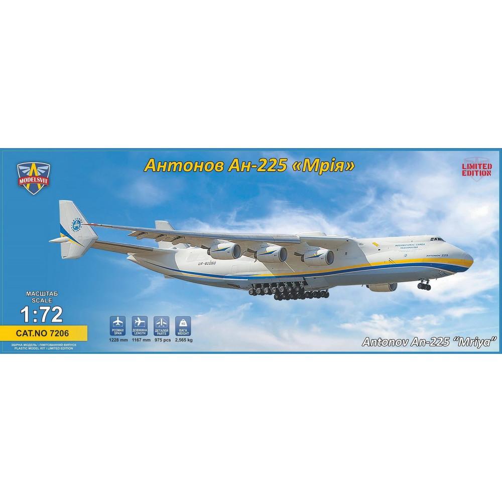 ANTONOV AN-225 MRIYA 1/72 Modelsvit 7206