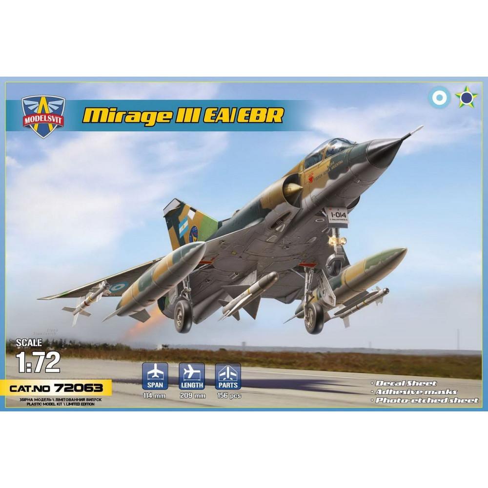 MIRAGE IIIEA/IIIEBR 1/72 Modelsvit  72063