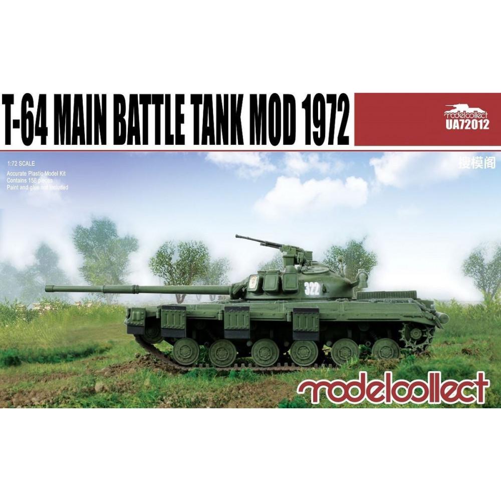 T-64 Main Battle Tank Mod 1972 1/72 Modelcollect  72012