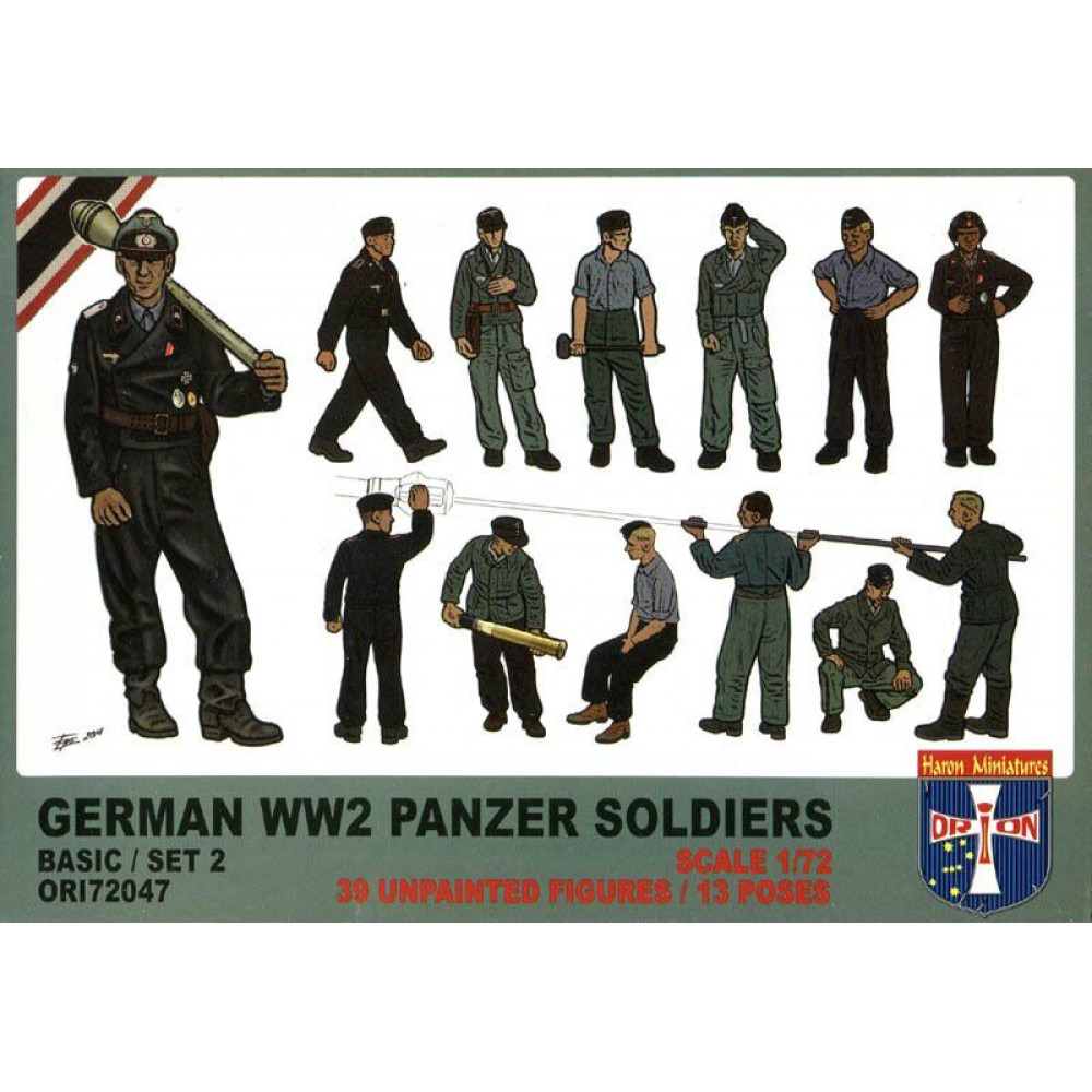 German WW2 Panzer Soldiers Basic Set 2  1/72 Orion 72047