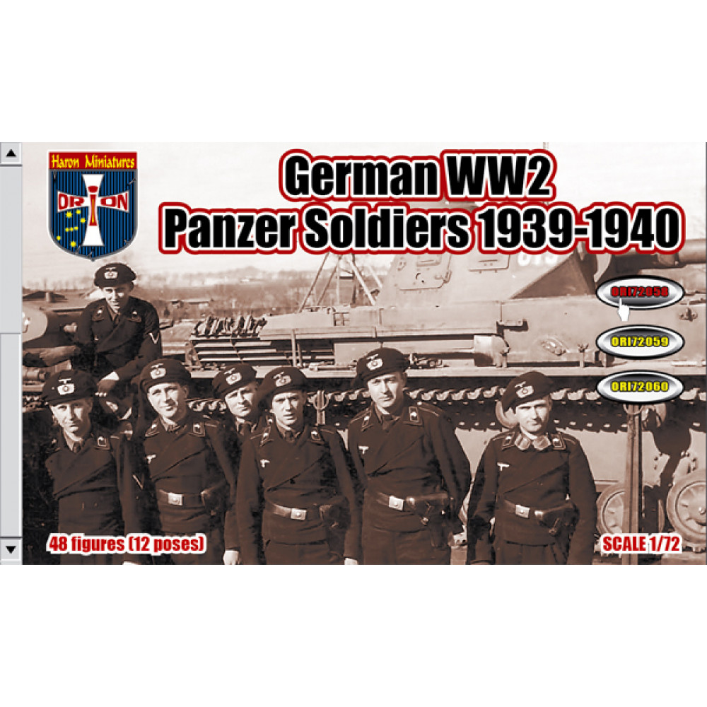 German WW2 Panzer Soldiers 1939-1940 (48 figures)  1/72 Orion 72058