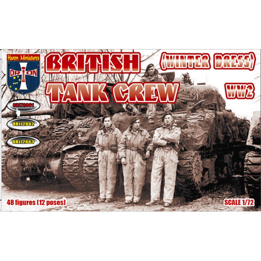 British Tank Crew (Winter Dress). WW2  (48 figures, 12 poses)  1/72 Orion 72061